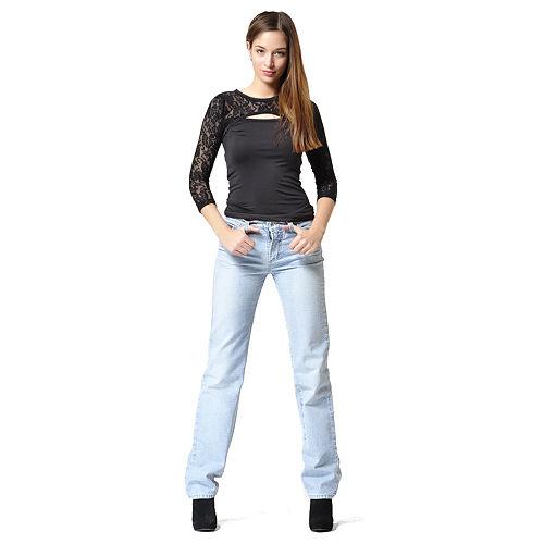 Açık Mavi Bol Paça Kot Pantolon