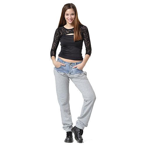Gri Eşofman Detaylı Pantolon