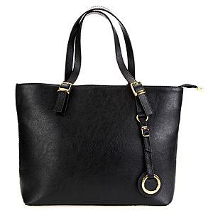 Mecrea Accessories Siyah Gold Detaylı Elegance Çanta