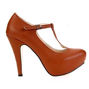 Mecrea Shoes Anastasia Taba Bilekten Bağlı Platform Topuklu