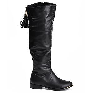 Mecrea Shoes Elegant Siyah Tasarım Çizme