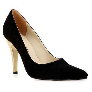 Mecrea Shoes Goldy Altın Topuklu Süet Stiletto