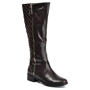 Mecrea Shoes Kahve Kapitone Binici Çizmesi