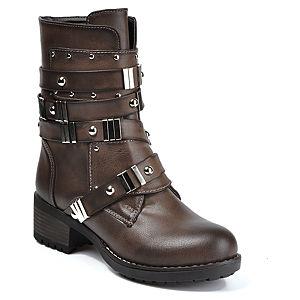 Mecrea Shoes Kahve Yanları Demir Detaylı Çizme