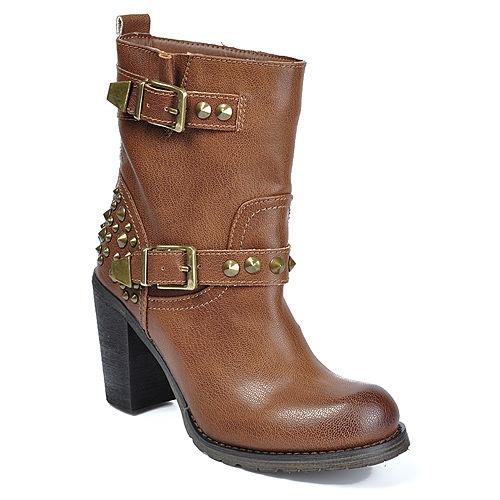 Mecrea Shoes Kahverengi Trok Detaylı Topuklu Bot