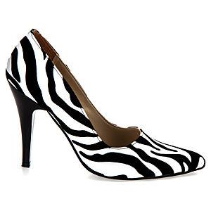 Mecrea Shoes Monochrome Zebra Stiletto