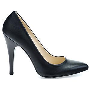 Mecrea Shoes Nero Siyah Deri Stiletto