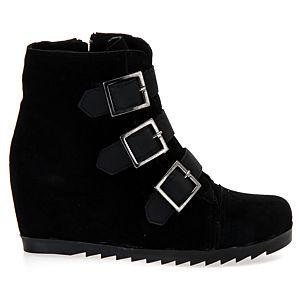 Mecrea Shoes Raider Bantlı Süet Topuklu Bot