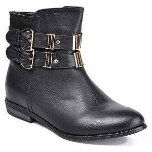 Mecrea Shoes Raider Siyah Fermuarlı Çift Tokalı Bot