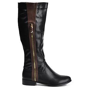Mecrea Shoes Raider Siyah Fermuarlı Çizme