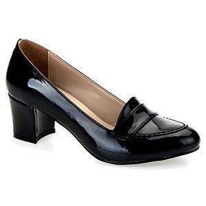 Mecrea Shoes Reya Siyah Rugan Kısa Topuklu