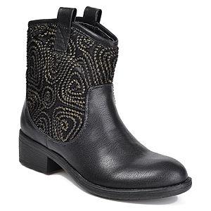 Mecrea Shoes Siyah Gümüş Desenli Bot