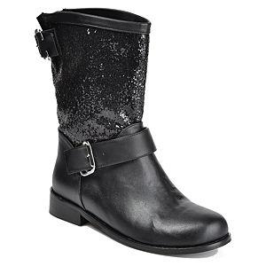 Mecrea Shoes Siyah Payet Garni Bot