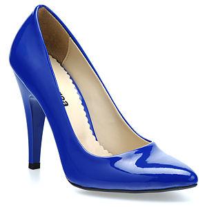 Mecrea Shoes Sky Rugan Saks Mavi Stiletto