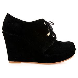 Mecrea Shoes Velvet Star Süet Dolgu Topuk Bootie