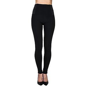 Mecrea Siyah Çelik Örme Lastikli Şık Pantolon