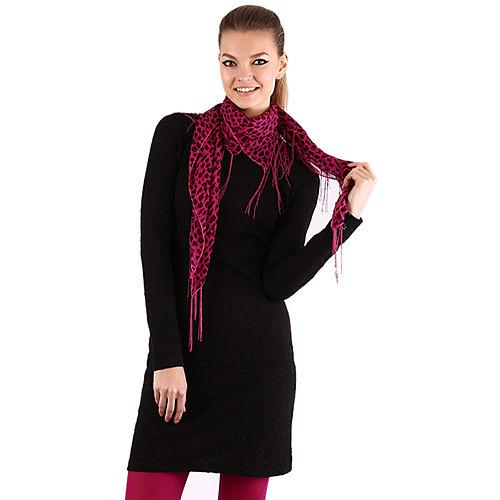 Mecrea Siyah Kumaşı Desenli Elbise