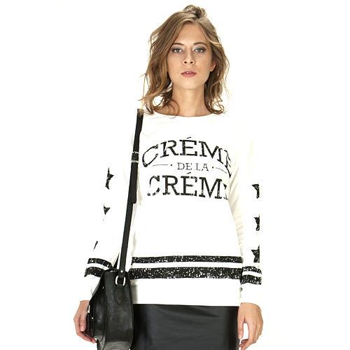 Street Fashion Creme De La Creme Sweat