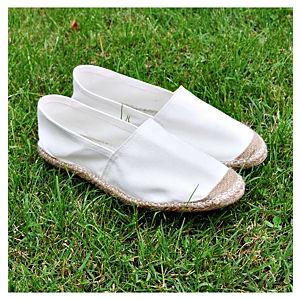 Street Fashion Fashion Beyaz Keten Espadril Ayakkabı