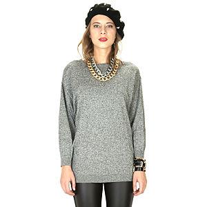Street Fashion Gri Kırçıllı Uzun Triko