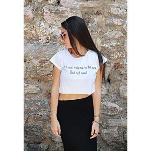 Street Fashion Oh Lord yarım t-shirt