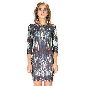 Street Fashion Print Elbise