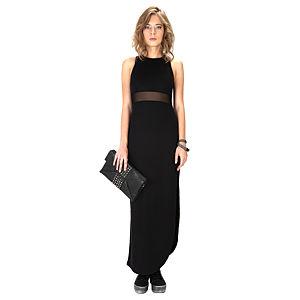 Street Fashion Siyah Uzun Elbise