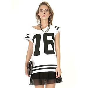 Street Fashion T-Shirt Beyaz 76 Baskılı